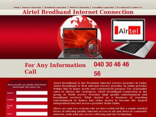 Airtel Broadband Connection in Hyderabad