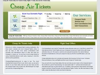 Book Cheap Air Tickets in India.