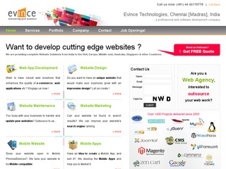 Evince Web Business Application Development