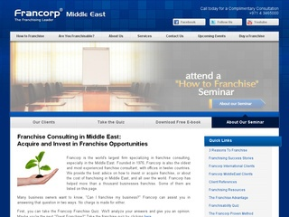 Franchise Opportunity in Middle East