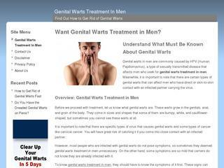 Genital Warts Treatment In Men