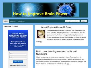 How to Improve Brain Power