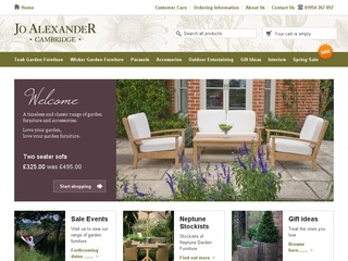 Jo Alexander Wicker Garden Furniture