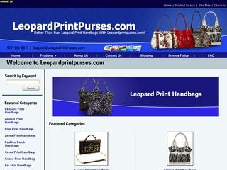 Leopard Print Purses