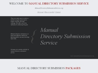 Manual Directory Submission Service – MDSS