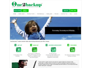 One2backup – Secure, automatic online data backup & recovery