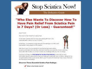 Pain Relief for Sciatica Pain