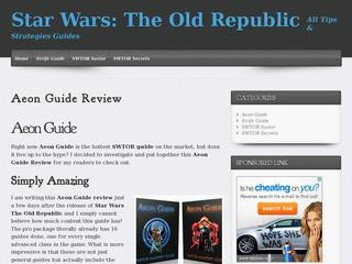 Star Wars: The Old Republic >> All Tips & Strategies Guides